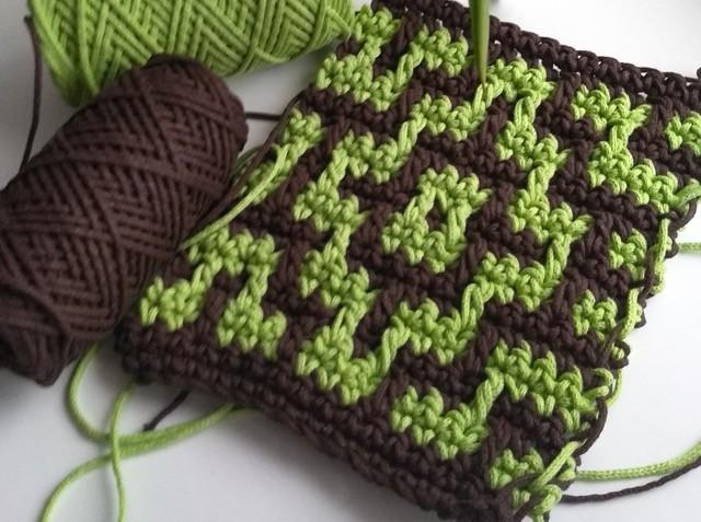 Мозаичное вязание